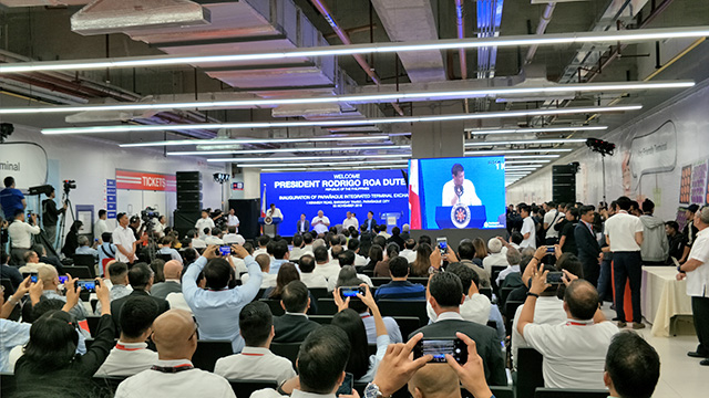 WATCH: Duterte inaugurates PH's first landport