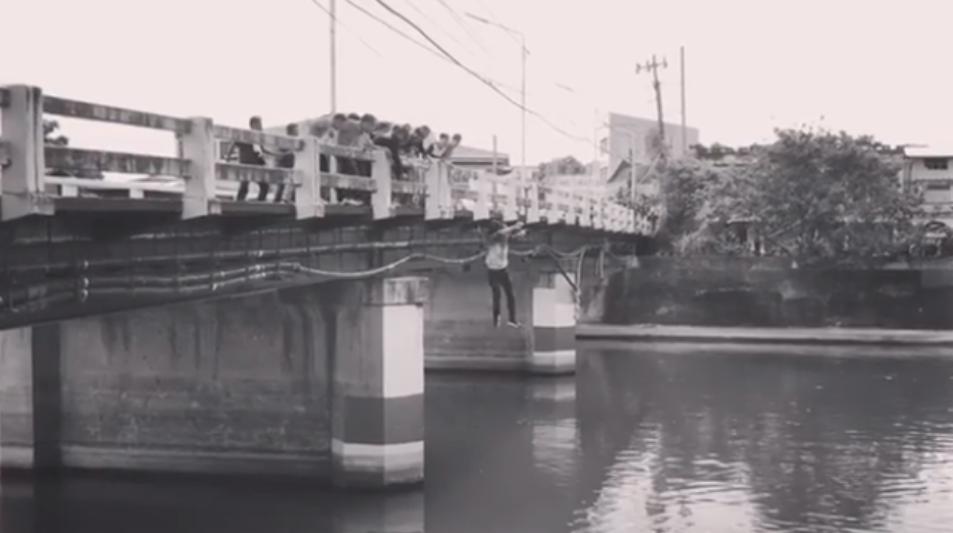 WATCH: Dennis Trillo jumps off bridge in Laguna