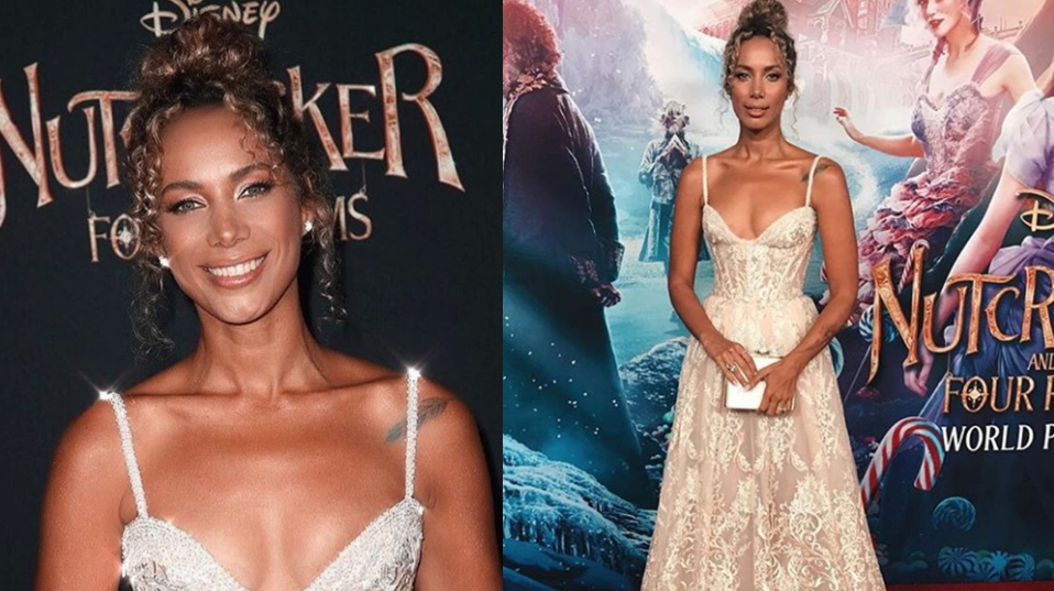 Int'l singer Leona Lewis dons Michael Cinco creation during Hollywood film premiere