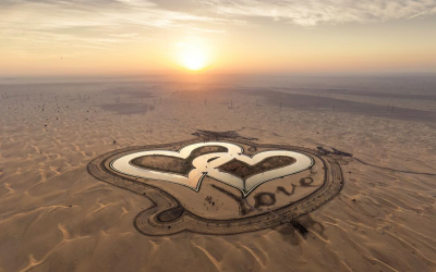 LOOK: New heart-shaped man-made lake in Dubai