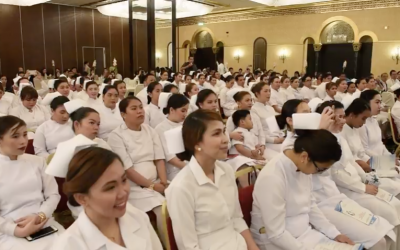 Ambassador graces oath taking ceremony of new Filipino  nurses and midwives in Abu Dhabi.