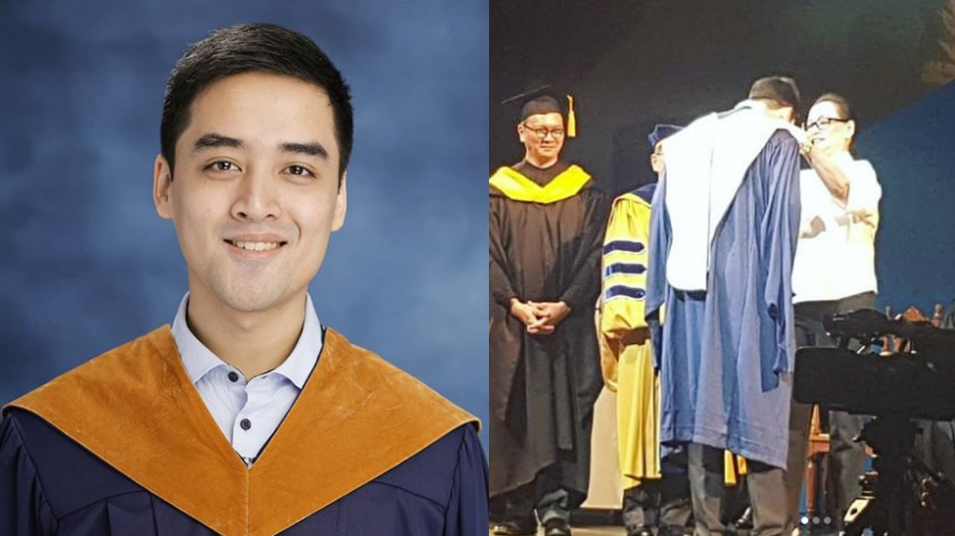 Son of Vic Sotto, Coney Reyes finishes Master's degree with honors