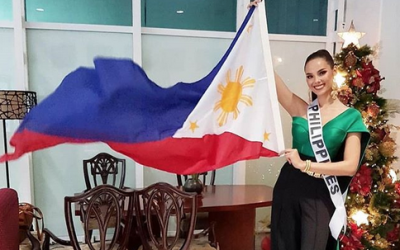 Catriona Gray flies to Thailand for Miss Universe 2018