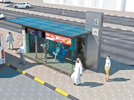 Solar-powered bus shelters around Sharjah open