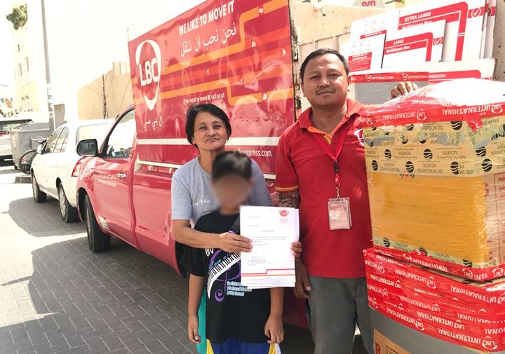 LBC donates to distressed OFW