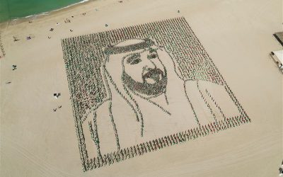 LOOK: 4,000 UAE flags ensemble to create portrait of Sheikh Khalifa