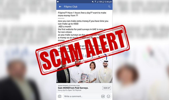 The Filipino Times issues alert on dubious money-making scheme using its photo