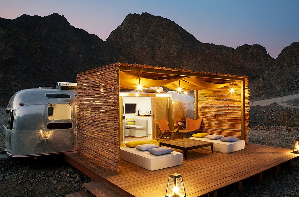 How about a mobile home-style hotel in the mountains?