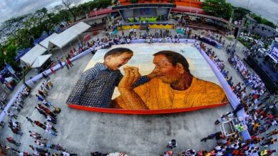 Photo of LOOK: PH's mosaic made of 300,000 'puto' bags Guinness World Record