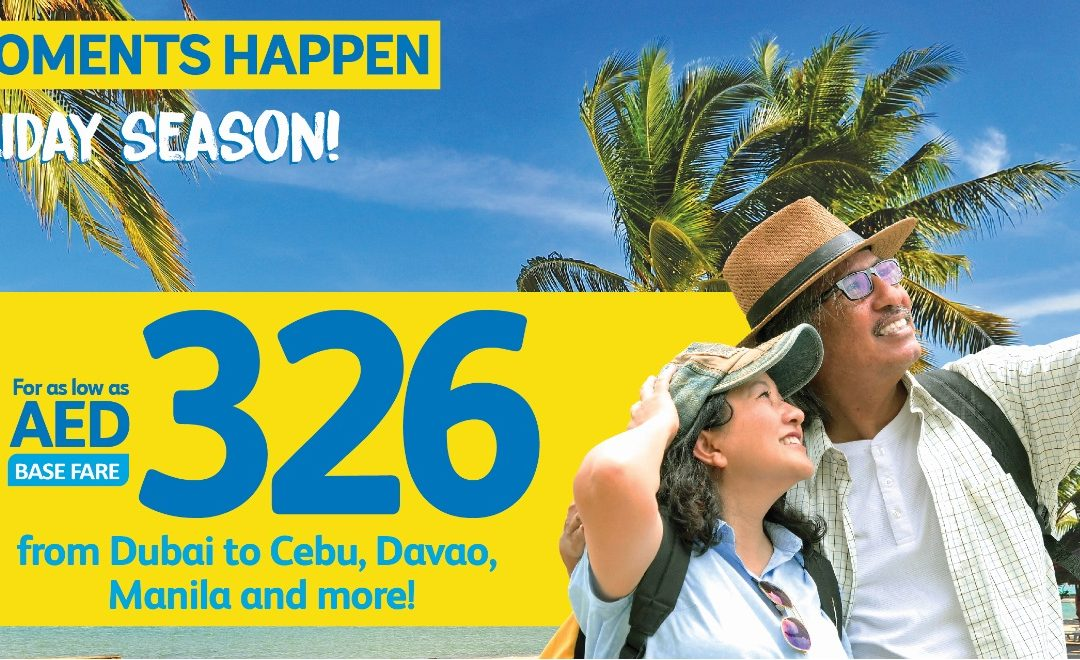 Fly to the Philippines with Cebu Pacific for only Dh 326