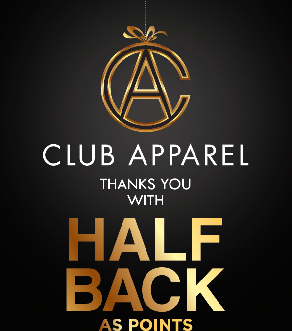 Club Apparel announces festive weekend promotion #ClubApparelThanksYou