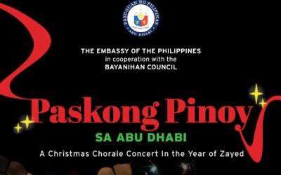 PH Embassy, Bayanihan Council to hold Paskong Pinoy in Abu Dhabi