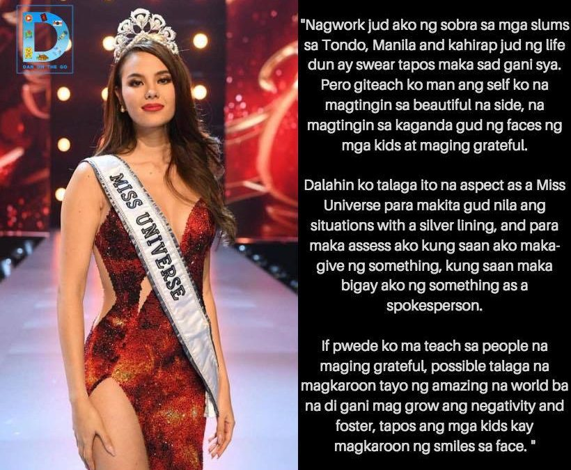 VIRAL: UAE Expat translates Catriona Gray's Miss Universe Q and A response to Davaoeño