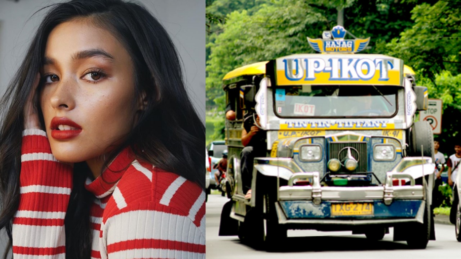 Liza Soberano sends students into frenzy when she's spotted riding jeepney, eating street food in UP
