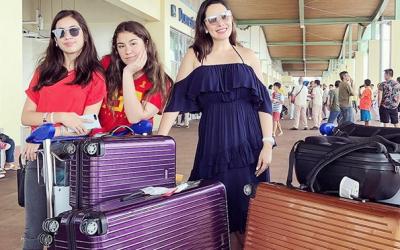 Left behind: Ruffa Guttierez misses flight after heavy traffic in Kuala Lumpur