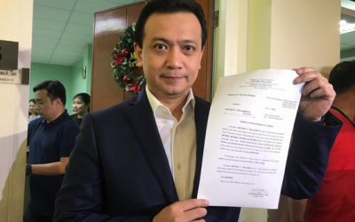 Trillanes post bail for libel charges of Paolo Duterte