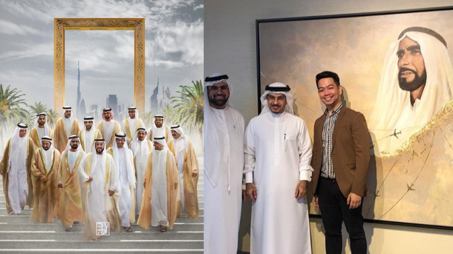 Meet the award-winning Filipino artist who paints UAE rulers