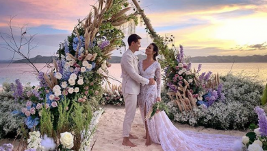 Photo of IN PHOTOS: Iza Calzado ties the knot with long-time partner Ben Wintle