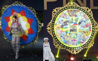 """WATCH: Catriona Gray slays as """"warrior princess"""" during Miss Universe national costume competition"""