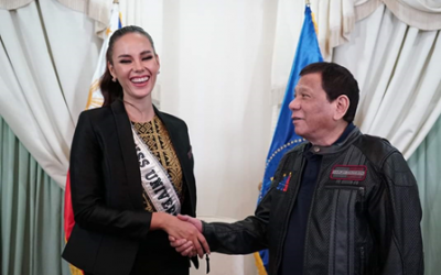 Miss Universe 2018 Catriona Gray visits President Rodrigo Duterte
