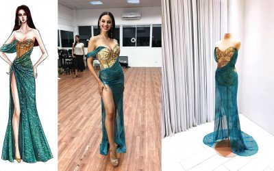 LOOK: Mak Tumang shares photos of 3rd gown Catriona Gray was supposed to wear in Miss Universe