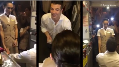Photo of WATCH: Passenger proposes to Emirates cabin crew mid-air