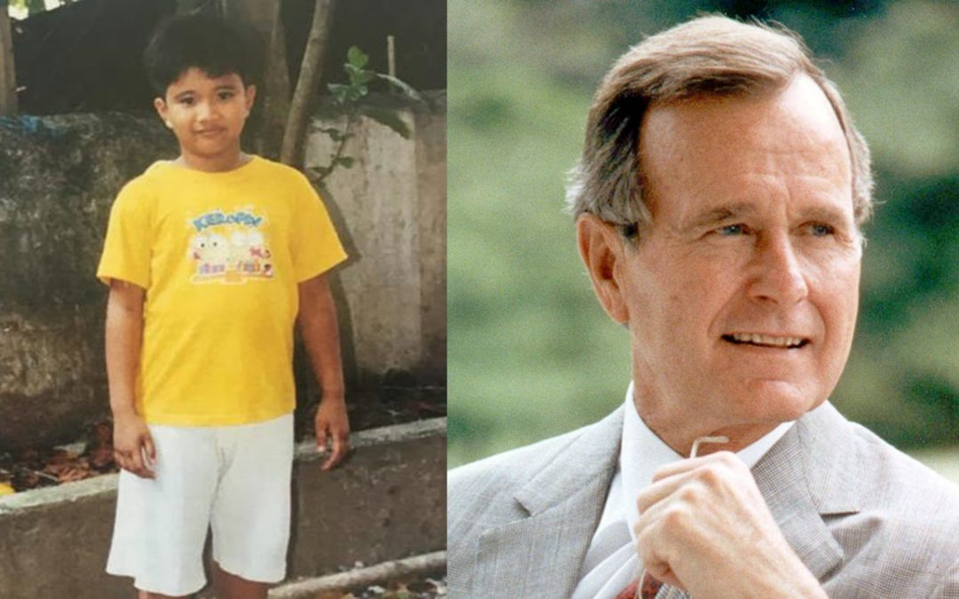 Filipino kid receives sponsorship from George H.W. Bush for 10 years in secret