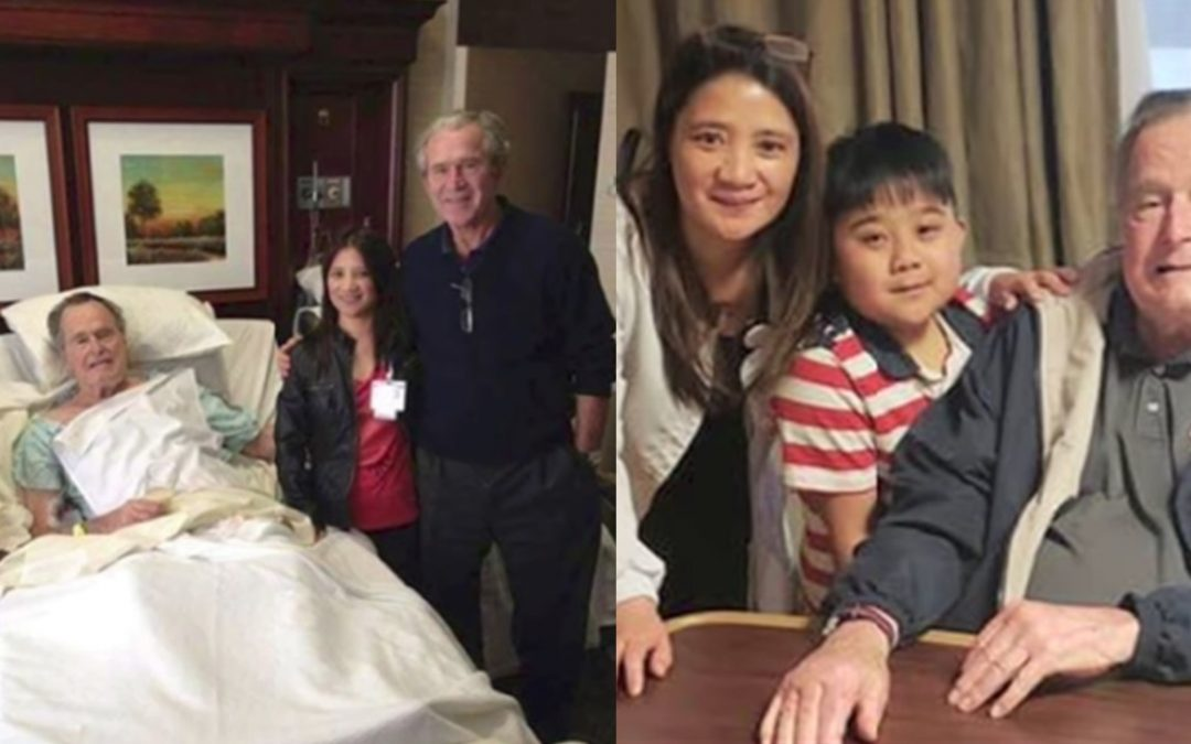 Pinay nurse speaks up amid flak on privacy issues on selfie with late president George H.W. Bush