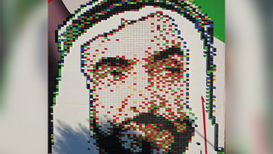 Photo of WATCH: 4,000 first-aid boxes used to create Sheikh Zayed portrait