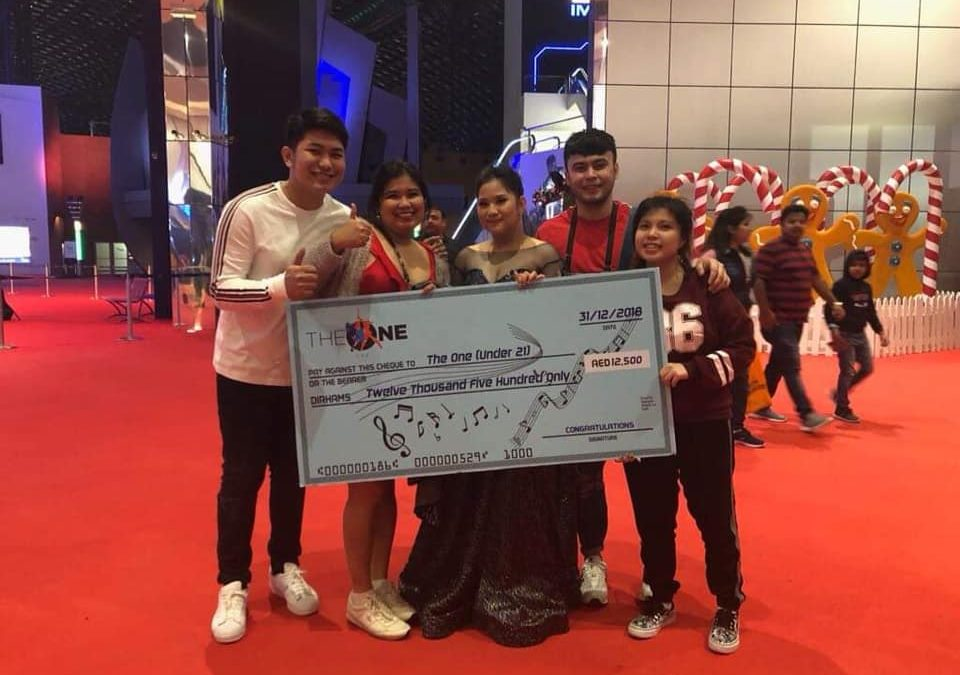 """Young Filipina singer welcomes 2019 with a big win at UAE's """"The One"""""""