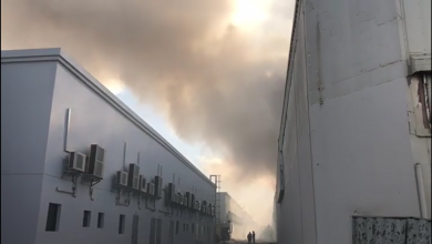 Photo of DEVELOPING STORY: Sharjah warehouse caught in a massive fire