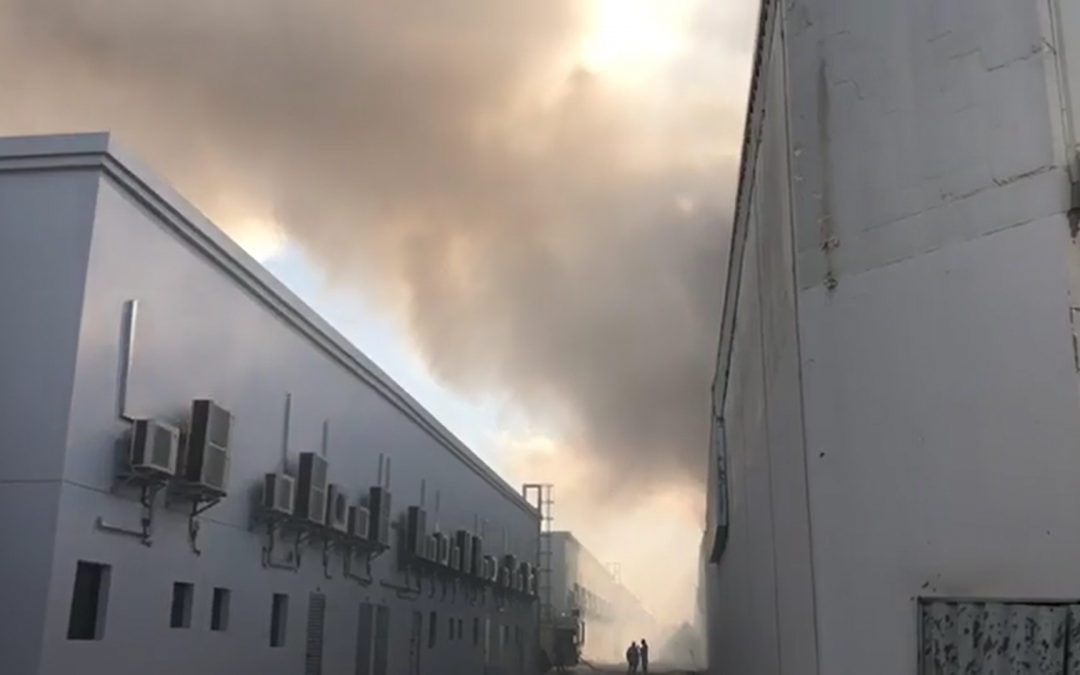 DEVELOPING STORY: Sharjah warehouse caught in a massive fire