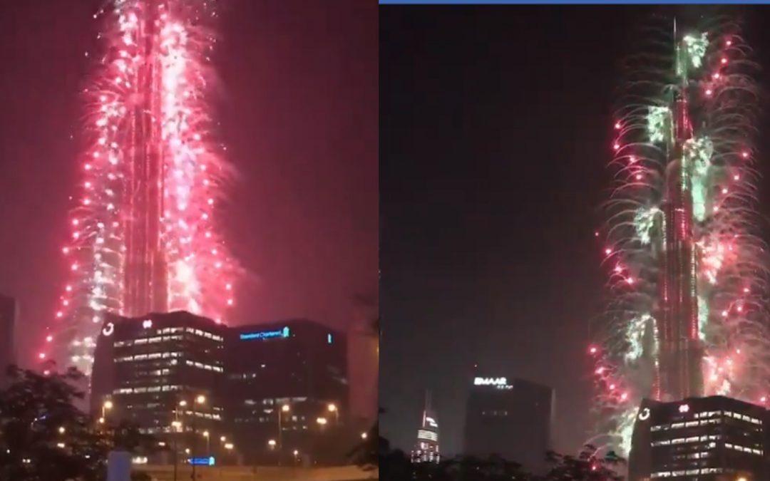 Millions watch as spectacular fireworks display lit up UAE skies