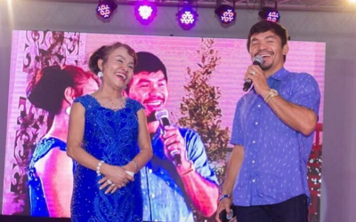 Why did Mommy Dionisia miss Manny Pacquiao's fight in Las Vegas?