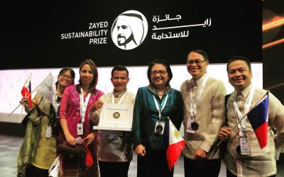 Filipino students hailed at the 2019 Zayed Sustainability Prize