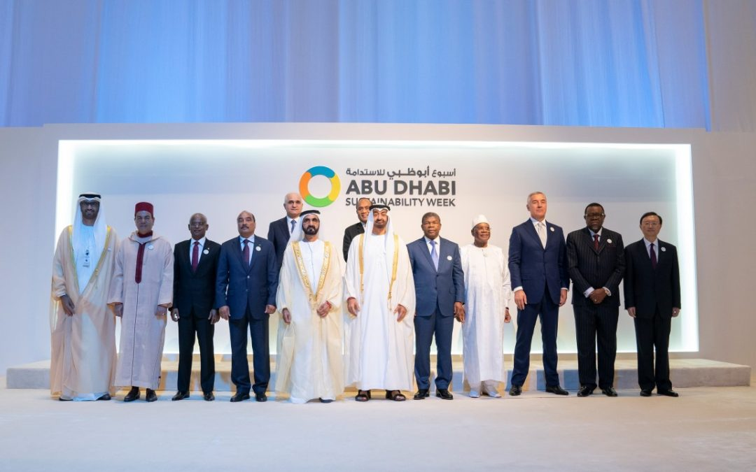 Mohammed bin Rashid, Mohamed bin Zayed attend opening of ADSW