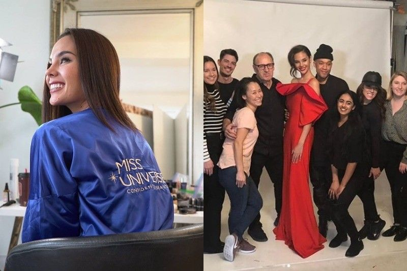 LOOK: Catriona Gray shares BTS photos of her first official photoshoot as Miss Universe