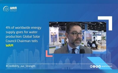 4% of worldwide energy supply goes for water production: Global Solar Council Chairman