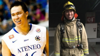 Photo of Ex-Ateneo Blue Eagle now a firefighter in US