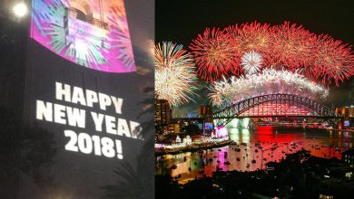 Photo of Sydney's multi-million New Year fireworks display ruined by wrong sign