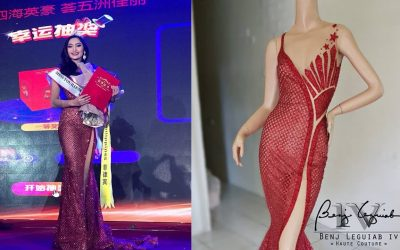 LOOK: Pinay winner at int'l beauty pageant wears patriotic gown