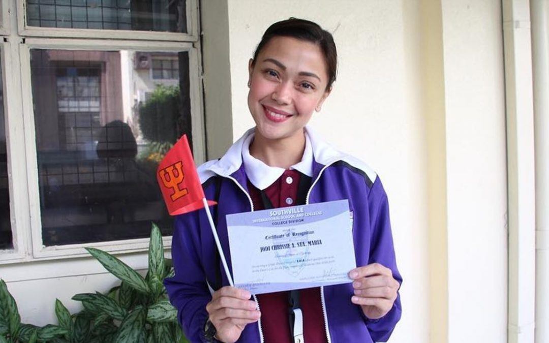 LOOK: Jodi Sta. Maria finishes semester as Top 2 Dean's Lister
