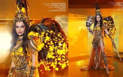 LOOK: PH bet stuns in Moriones festival-inspired outfit during Miss Intercontinental nat'l costume show