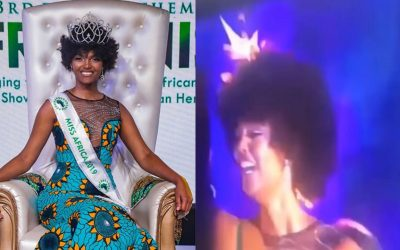 WATCH: Miss Africa 2018 crowning moment goes viral after winner's hair catches fire