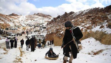 Photo of WATCH: Snow in desert in Saudi Arabia?