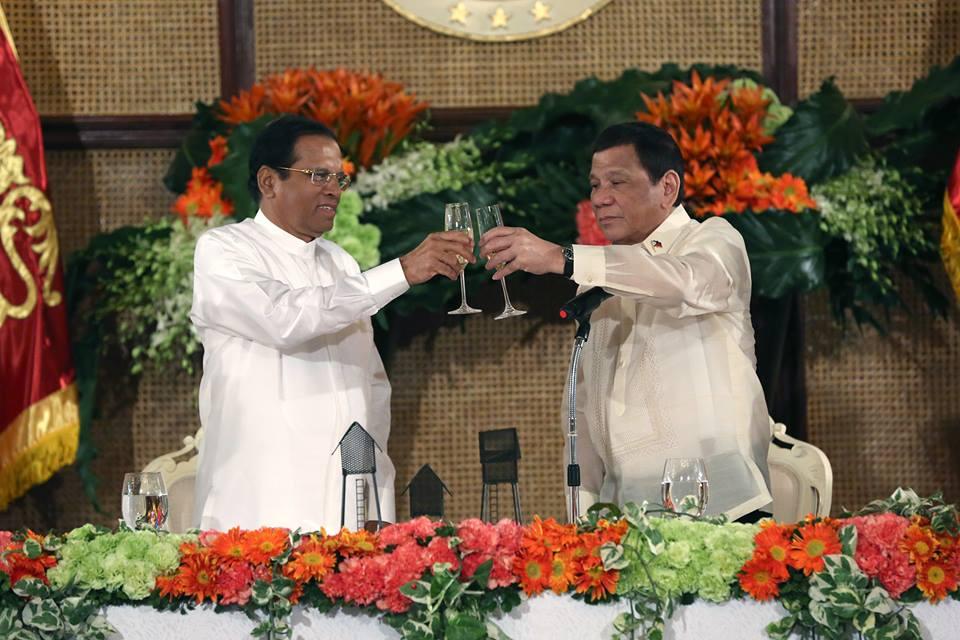 Sri Lankan president all praises for Duterte's drug war