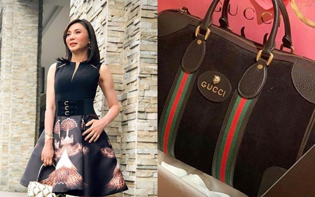 LOOK: Dr. Vicki Belo receives exclusive duffle bag from Gucci