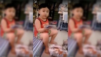 Photo of WATCH: Batangueño kid's hilarious reaction after receiving handkerchief for Christmas