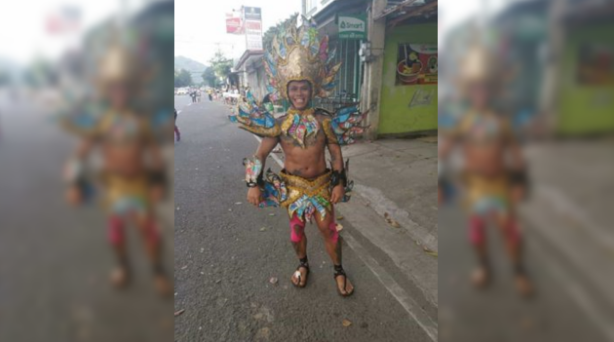 Dubai OFW joins marathon wearing costume made of recycled trash