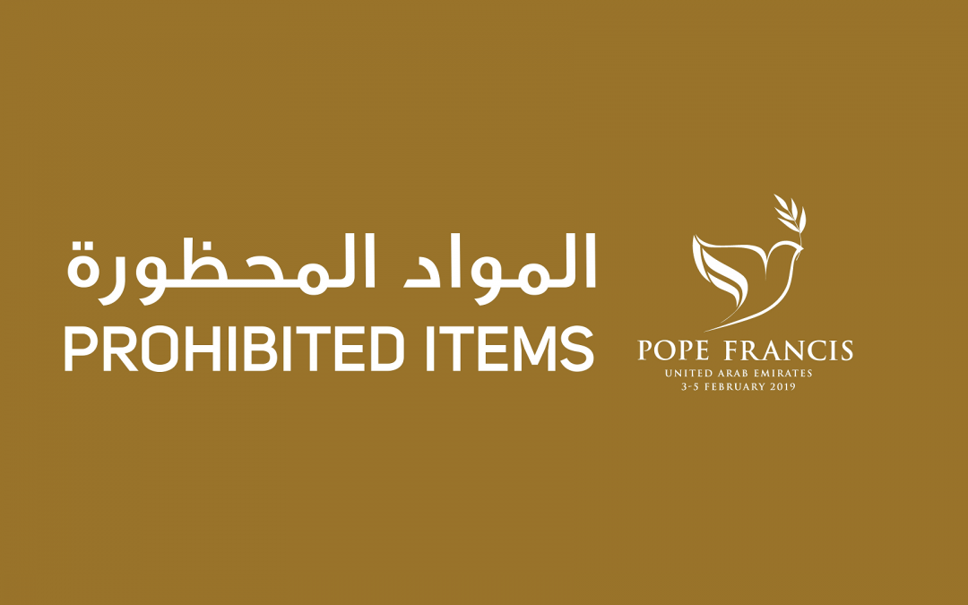 LOOK: List of items you should not bring to Papal Mass in Abu Dhabi